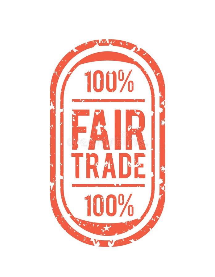 Vecteur de commerce équitable illustration libre de droits