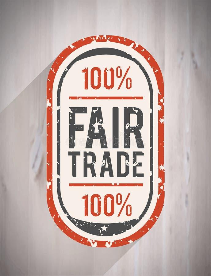 Vecteur de commerce équitable illustration stock