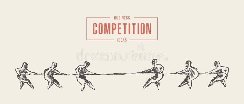 Vecteur de concept de concours de concurrence de corde de deux équipes illustration libre de droits