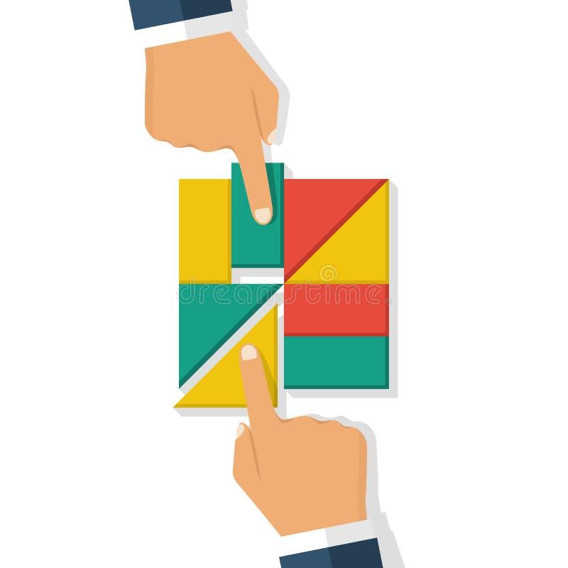 Vecteur de concept de collaboration illustration libre de droits