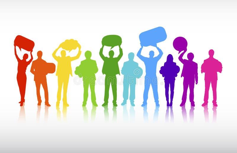 Vecteur de concept de collaboration de communications d'affaires illustration stock