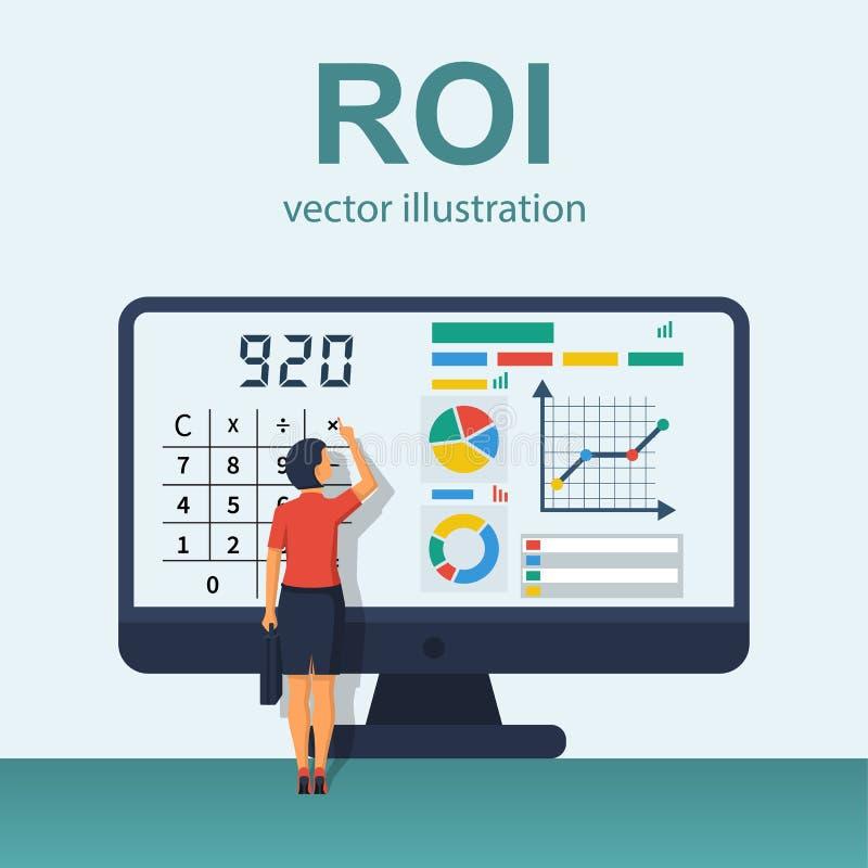 Vecteur de concept de ROI illustration de vecteur