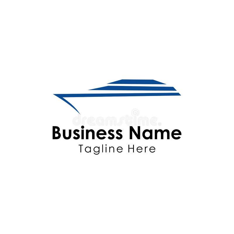 vecteur de conception de calibre de logo de bateau, mer, vacances illustration stock