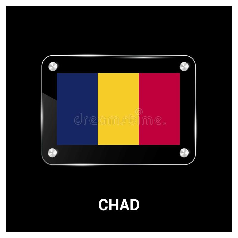 Vecteur de conception de Chad Flag illustration de vecteur