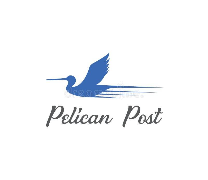 Vecteur de conception de courrier de pélican illustration stock