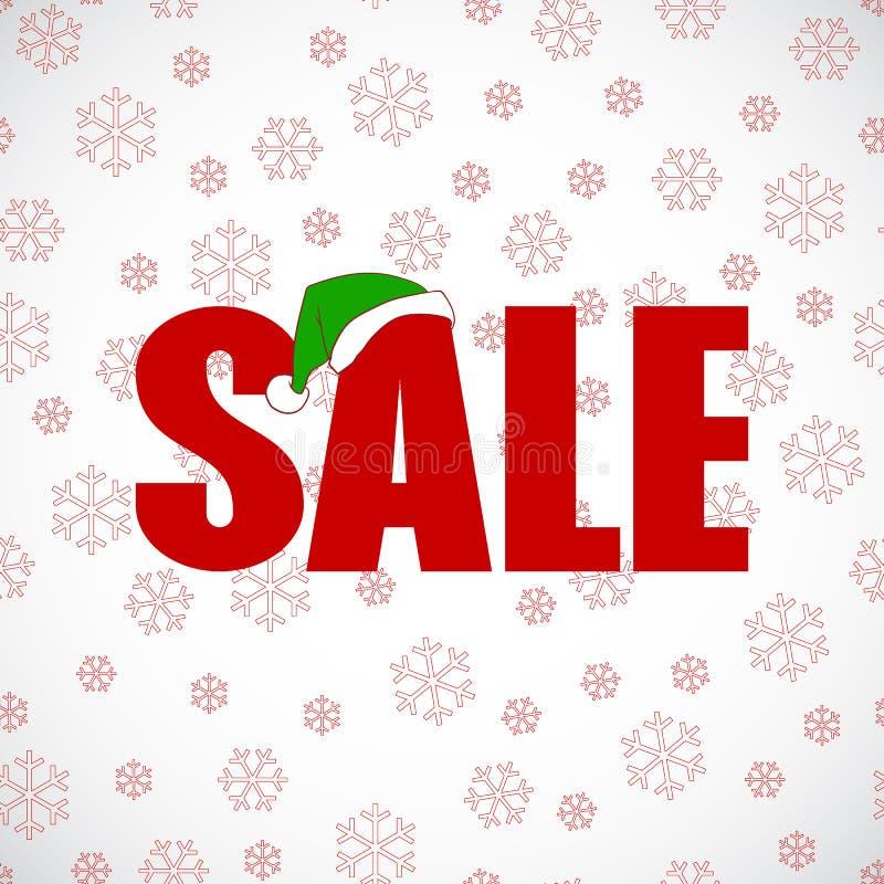 Vecteur de conception d'affiche de vente au rabais de Noël illustration libre de droits