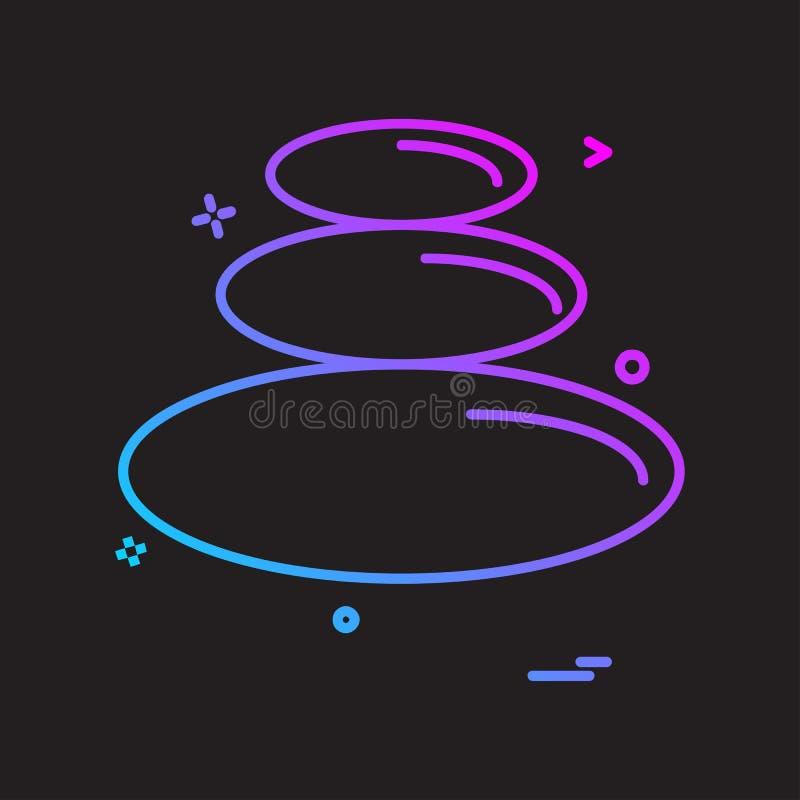 Vecteur de conception d'icône de formes de cercle illustration de vecteur