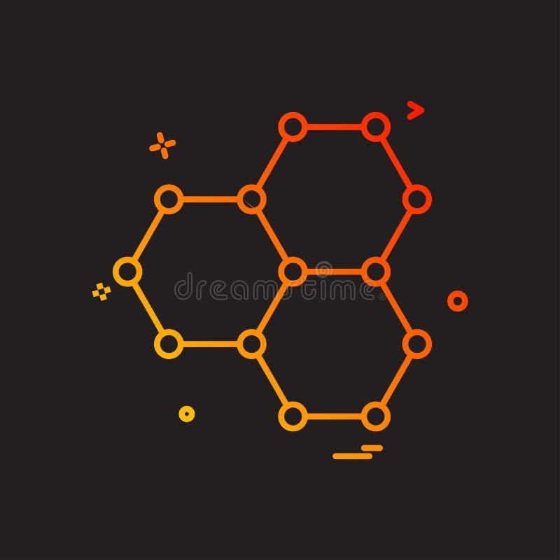 Vecteur de conception d'icône de Shell illustration de vecteur