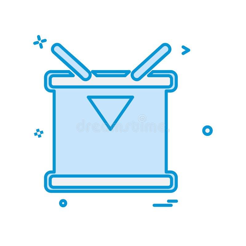 Vecteur de conception d'icône de tambour illustration stock