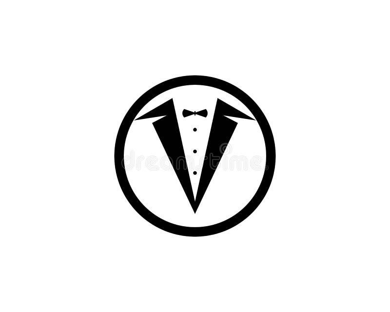 Vecteur de conception d'illustration d'icône de vecteur de calibre de logo de smoking illustration libre de droits