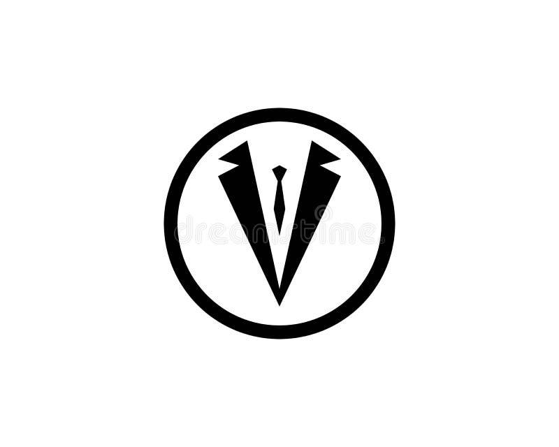 Vecteur de conception d'illustration d'icône de vecteur de calibre de logo de smoking illustration stock