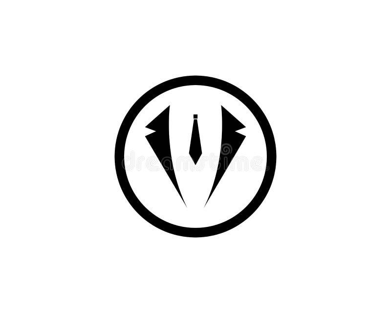 Vecteur de conception d'illustration d'icône de vecteur de calibre de logo de smoking illustration de vecteur