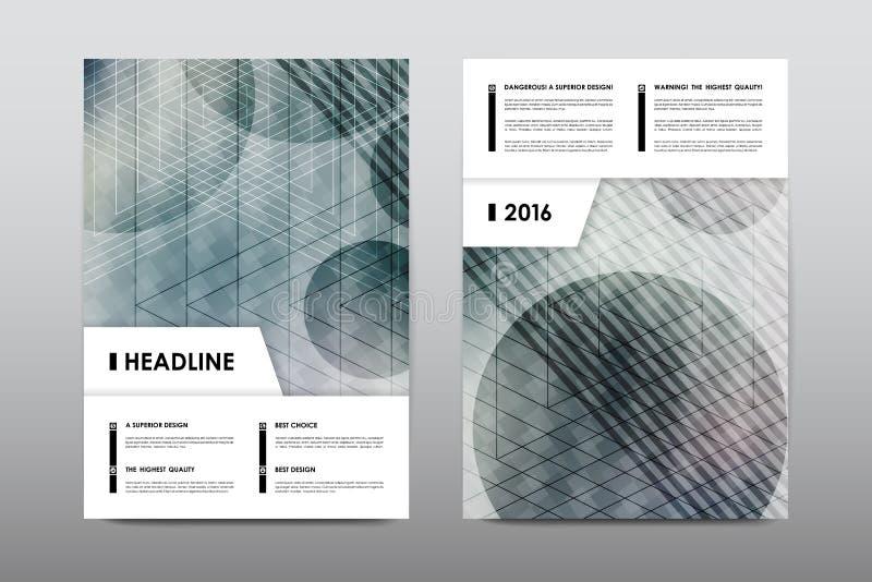 Vecteur de conception d'insecte de calibre de disposition de brochure, fond d'abrégé sur couverture de livret de magazine illustration de vecteur