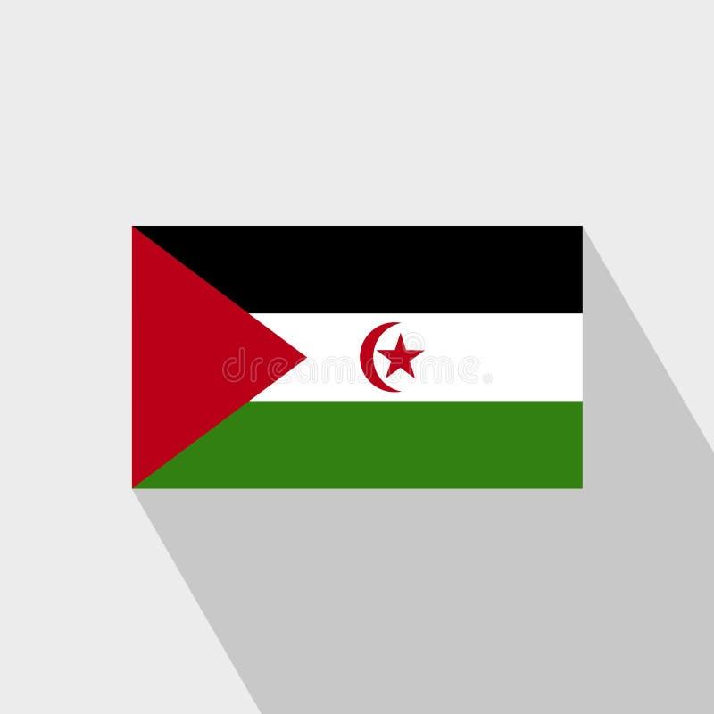 Vecteur de conception d'ombre de drapeau de la Sahara occidental long illustration libre de droits