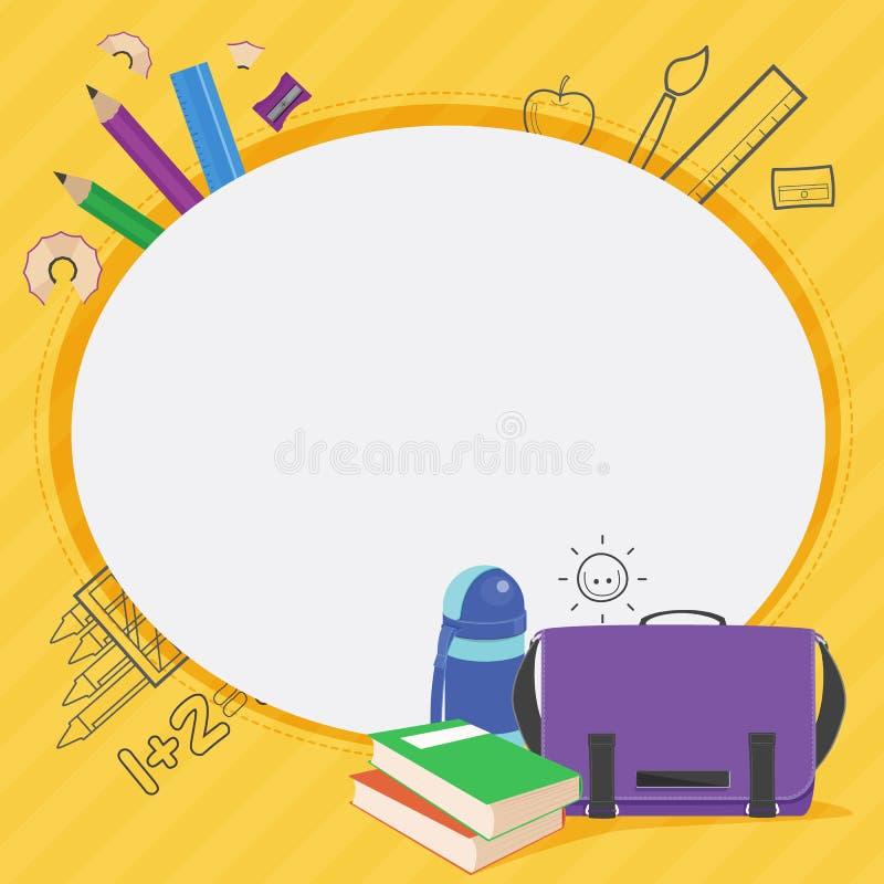Vecteur de conception de cadre d'enfants d'école images stock