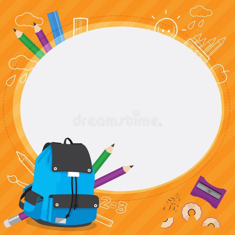 Vecteur de conception de cadre d'enfants d'école photos stock