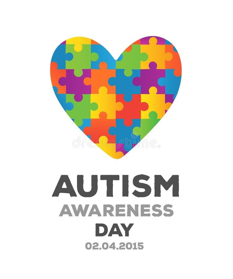 Vecteur de conception de conscience d'autisme illustration libre de droits