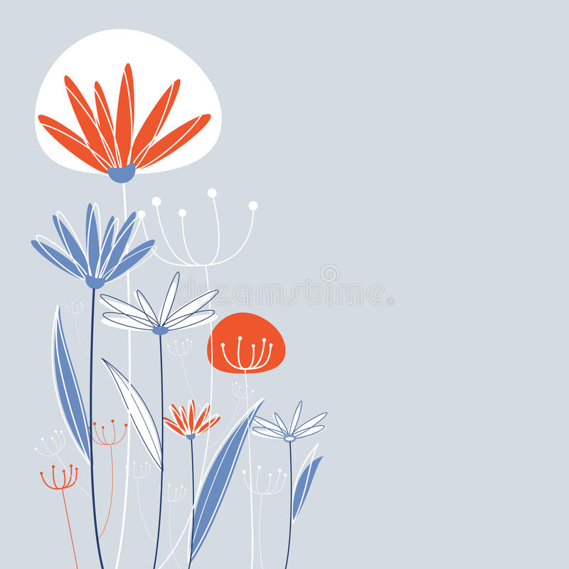 Vecteur de conception de fleur illustration stock