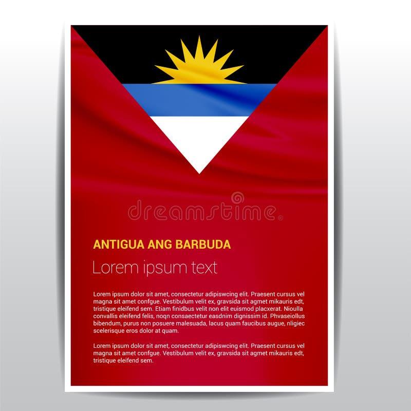 Vecteur de conception de drapeau d'ANG Barbuda de l'Antigua illustration libre de droits
