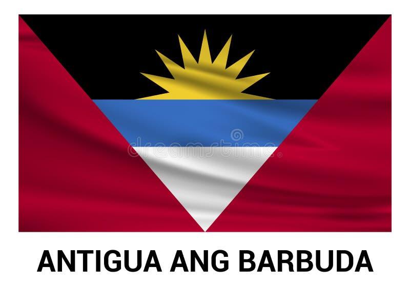 Vecteur de conception de drapeau d'ANG Barbuda de l'Antigua illustration de vecteur