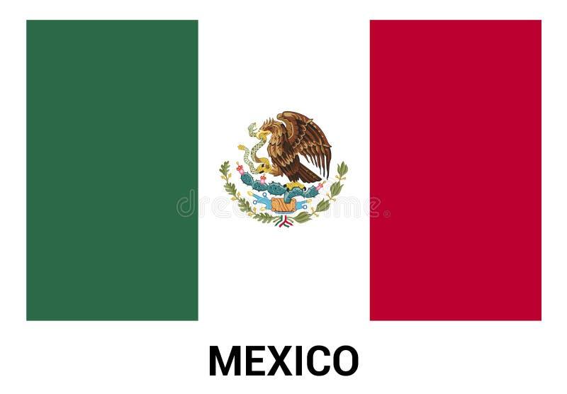 Vecteur de conception de drapeau du Mexique photographie stock libre de droits