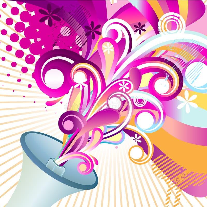 Vecteur de conception florale illustration stock