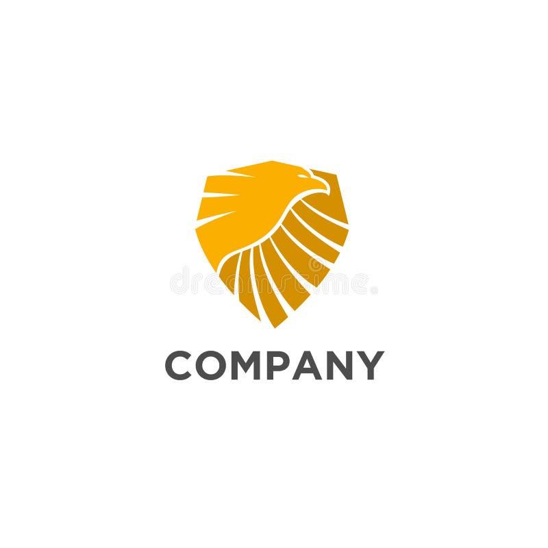 Vecteur de conception de logo de bouclier d'Eagle illustration de vecteur