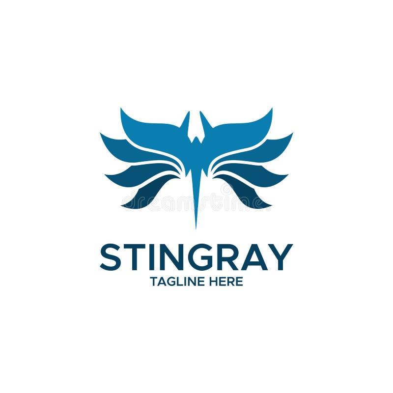 Vecteur de conception de logo d'abrégé sur pastenague illustration stock