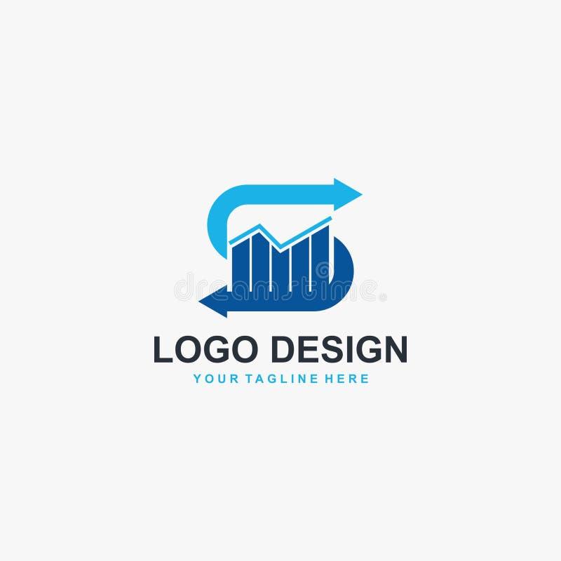 Vecteur de conception de logo de graphique de la lettre S Conception financi?re de logo illustration libre de droits