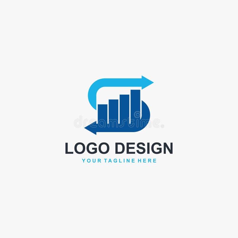 Vecteur de conception de logo de graphique de la lettre S Conception financi?re de logo illustration de vecteur