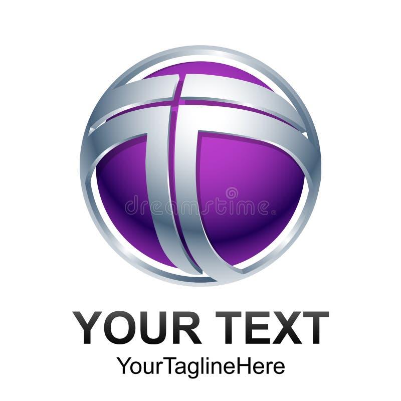 Vecteur de conception de logo de la lettre T Simples abstraits modernes nettoient le 2D fla illustration stock