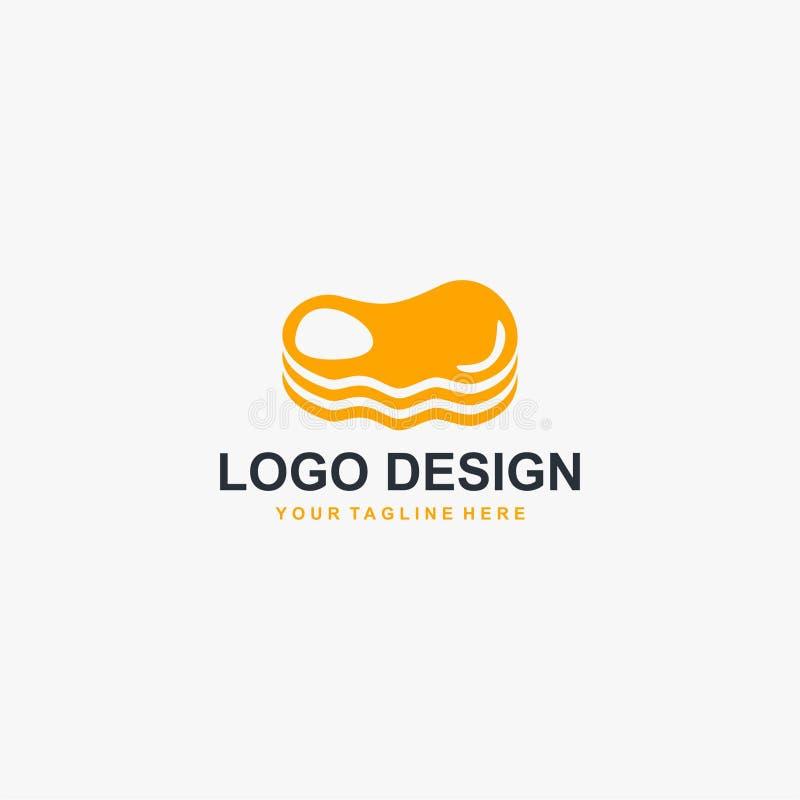 Vecteur de conception de logo de viande de bifteck Conception de logo de nourriture pour la restauration illustration libre de droits