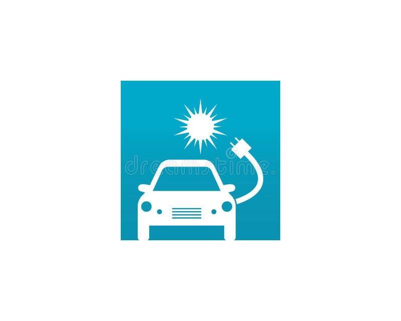 Vecteur de conception de logo de voiture électrique illustration de vecteur