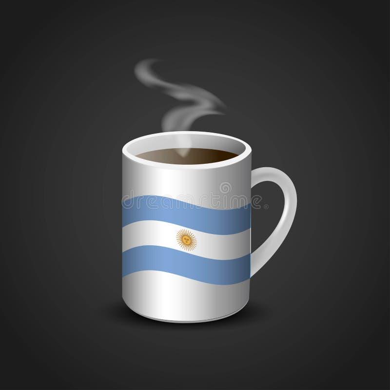 Vecteur de conception de tasse de drapeaux illustration libre de droits