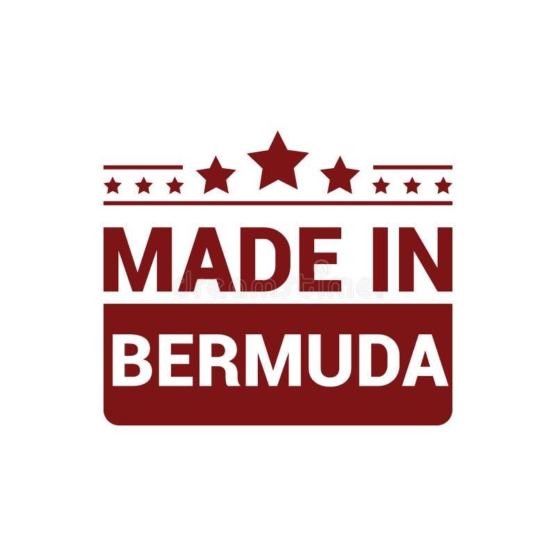 Vecteur de conception de timbre des Bermudes illustration de vecteur
