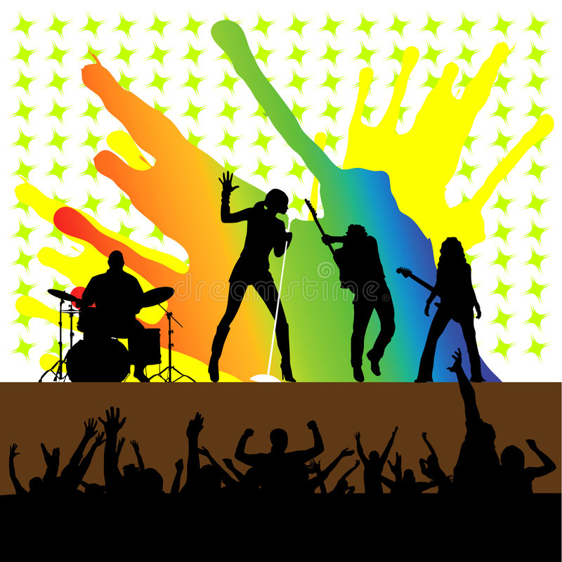 Vecteur de concert de rock illustration libre de droits