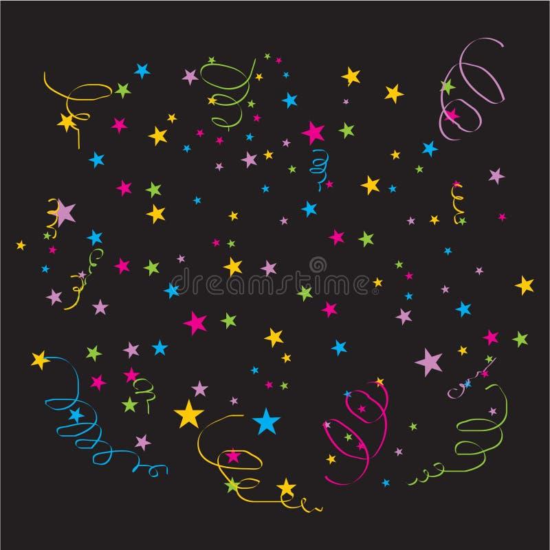 vecteur de confettis illustration stock