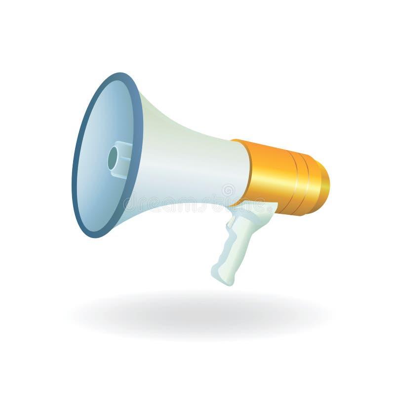 Vecteur de corne de brume illustration stock