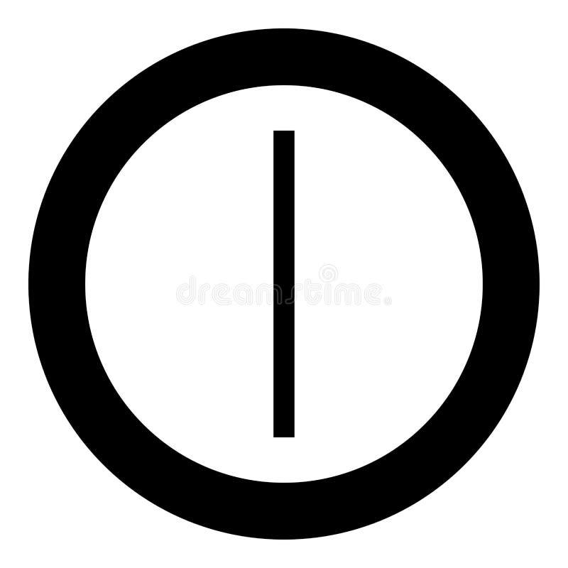 Vecteur de couleur de noir d'icône de symbole de gel de glace de rune d'AIS dans l'image plate de style d'illustration ronde de c illustration stock
