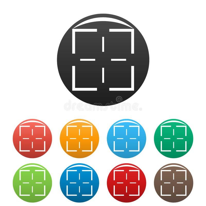 Vecteur de couleur réglé par icônes de mission illustration libre de droits