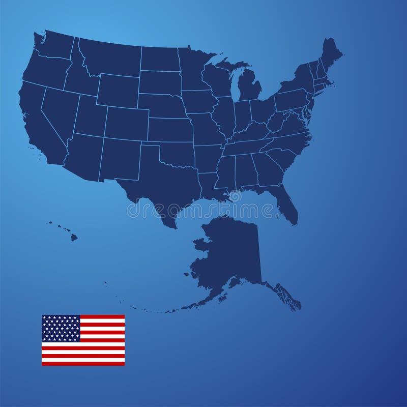 Vecteur de couverture de carte des USA illustration stock