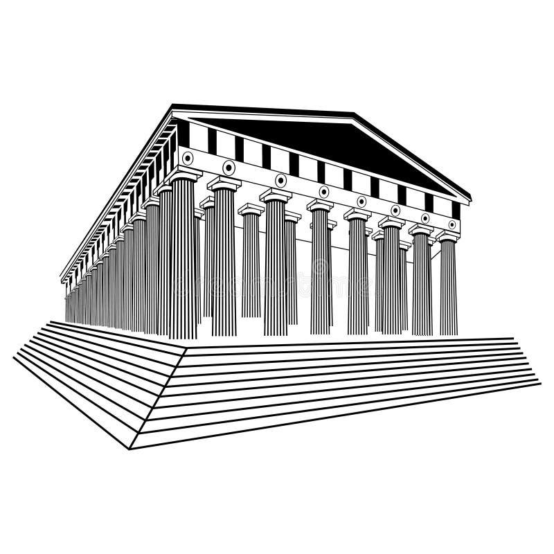 Vecteur de croquis de parthenon de la Grèce illustration libre de droits