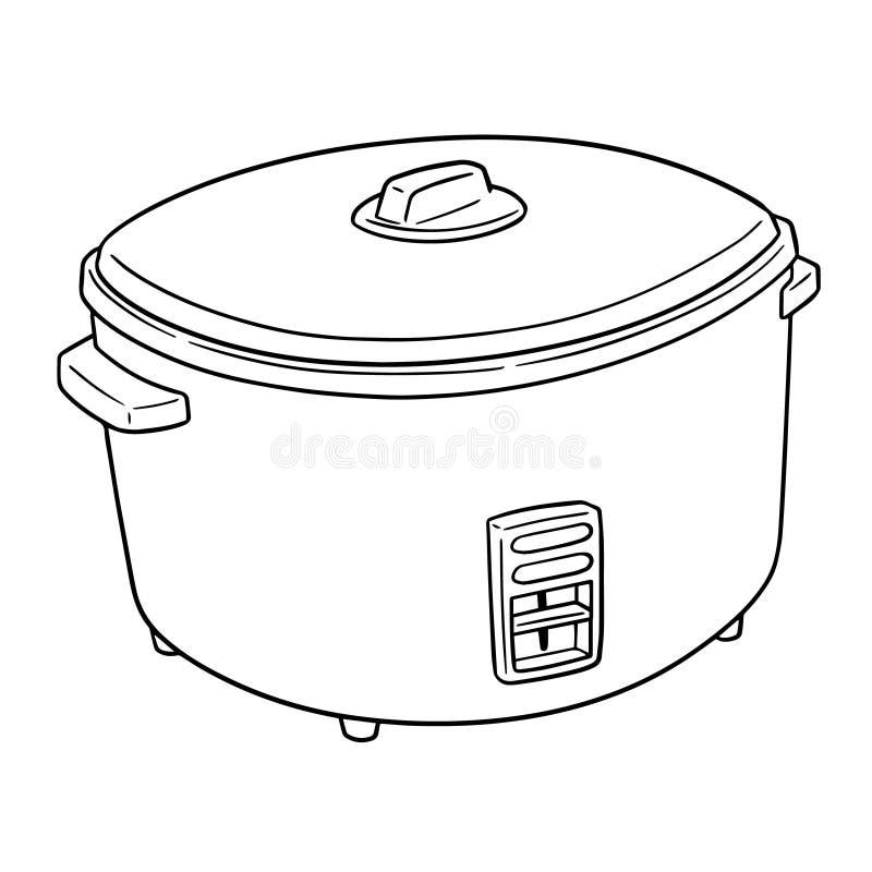 Vecteur de cuiseur de riz illustration libre de droits