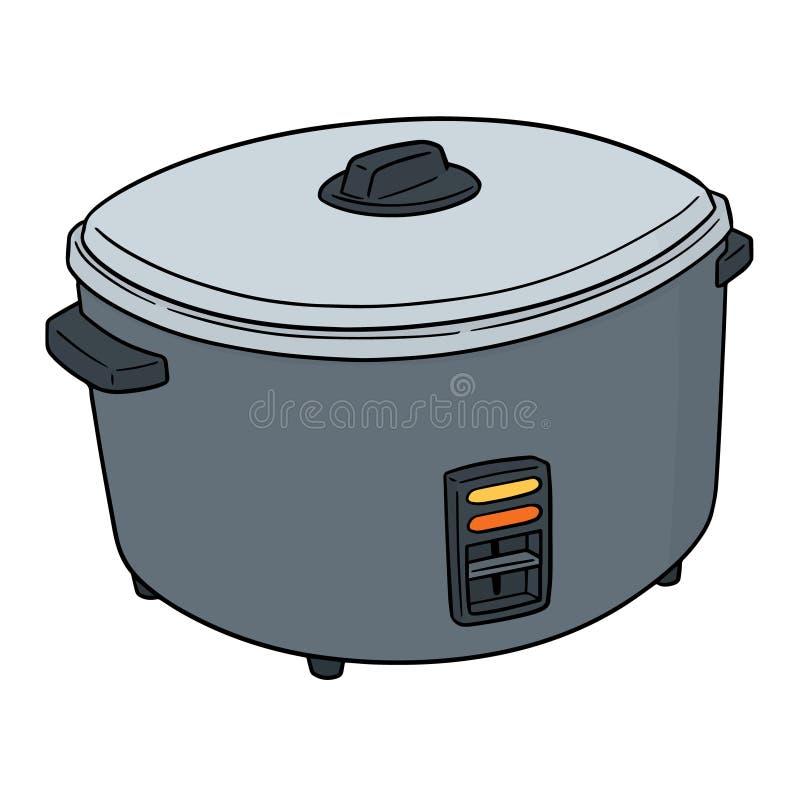 Vecteur de cuiseur de riz illustration stock