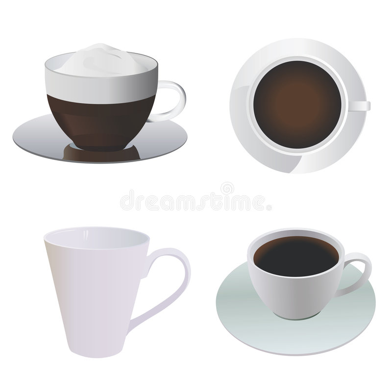 Vecteur de cuvette de café illustration stock