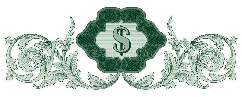 Vecteur de décoration du dollar illustration stock