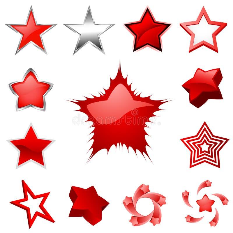 Vecteur de dessins d'étoile illustration de vecteur