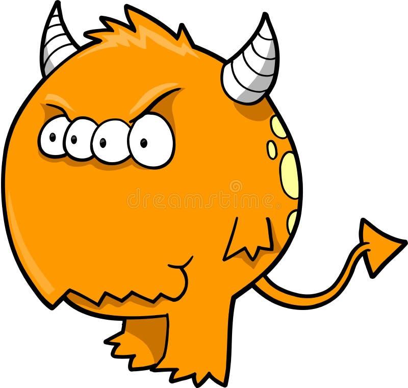 Vecteur de diable de monstre illustration libre de droits