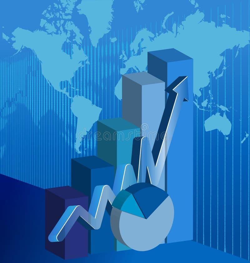 vecteur de diagramme de barre analogique d'affaires d'Information-graphique illustration de vecteur