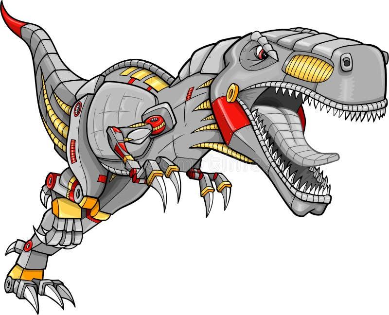 Vecteur de dinosaur de Tyrannosaurus de robot illustration de vecteur
